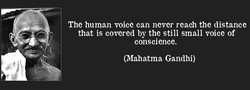 The human voice can never reach the distance 