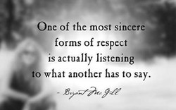 One of the most sincere 