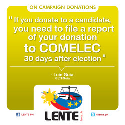 ON CAMPAIGN DONATIONS 