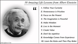 10 Amazing Life Lessons from Albert Einstein: 