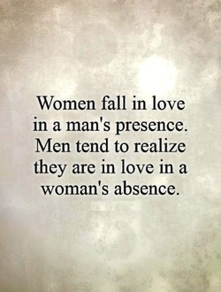 Women fall in love 
