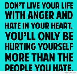 DON'T LIVE YOUR LIFE 