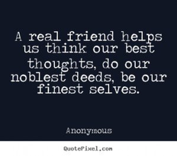 A real friend helps 