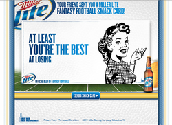 YOUR FRIEND SENT YOU MILLER LITE 