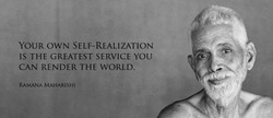 YOUR OWN SELF-REALIZATION 