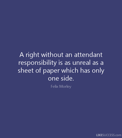 A right without an attendant 