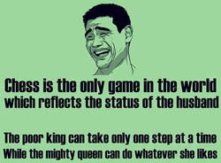 Chess is the only game in the world 
