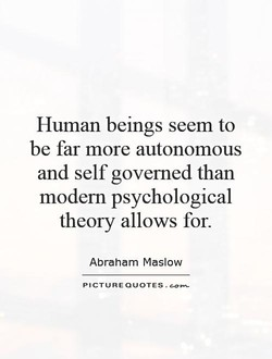 Human beings seem to 