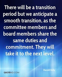 There will be a transition 