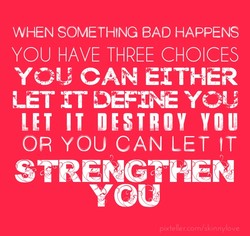 WHEN SOMETHING BAD HAPPENS 