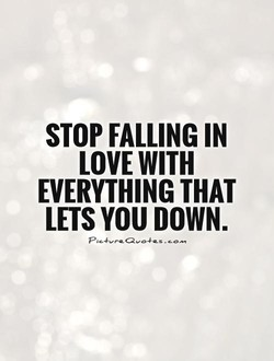 STOP FALLING IN 