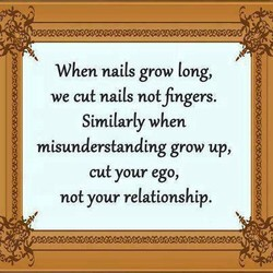 When nails grow long, 