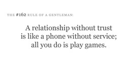 THE #162 RULE OF A GENTLEMAN: 