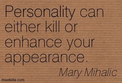 Personality can 