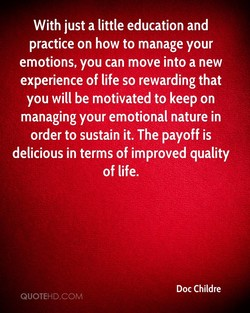 With just a little education and 