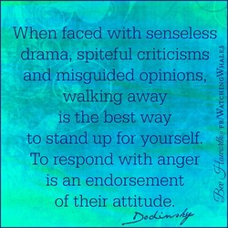 When faced with senseless 