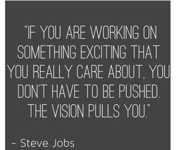 YOU ARE WORKING ON 