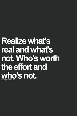 Realize what's 