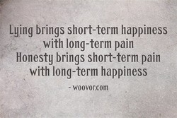 Lying brings short-term happiness 
