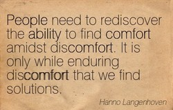 People need to rediscover 