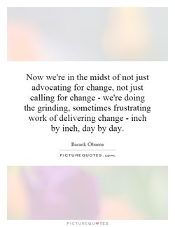 Now we're in the midst of not just 