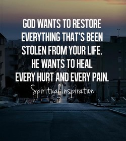 GOD WANTS TO RESTORE 