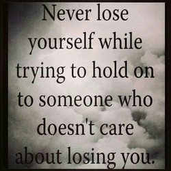 Never lose 