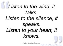 4isten to the wind, it 