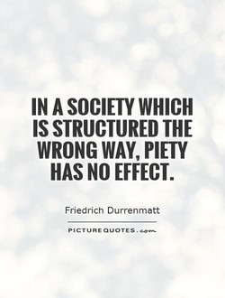 IN A SOCIETY WHICH 