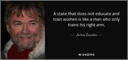 A state that does not educate and 