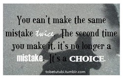 YOU can't make the same 