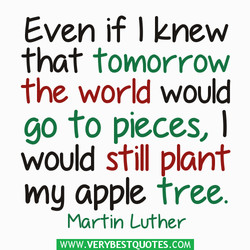 Even if ) knew 
