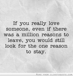 If you really love 
