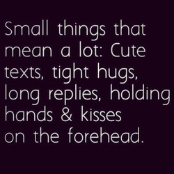 Small things that 