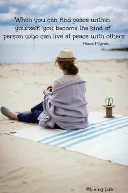 you can fihd peace unthih 
