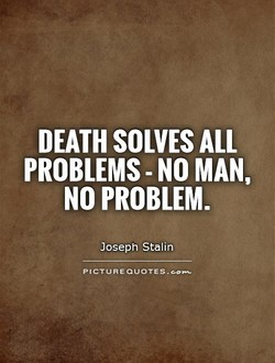 DEATH SOLVES ALL 