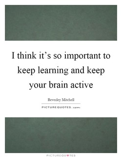 I think it's so important to 