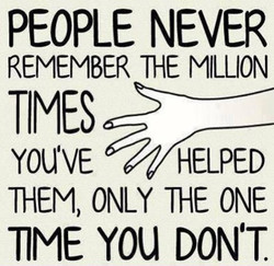 PEOPLE NEVER 