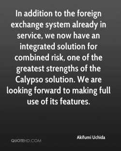 In addition to the foreign 