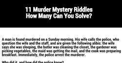 11 Murder Mystery Riddles 