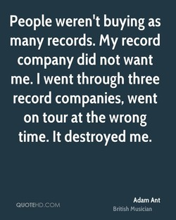 People weren't buying as 