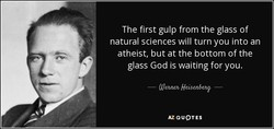 The first gulp from the glass of 