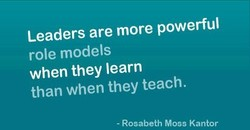 Leaders are more powerful 