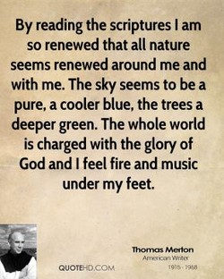 By reading the scriptures I am 