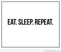 EAT. SLEP REPEAT. 