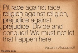 Pit race against race, 