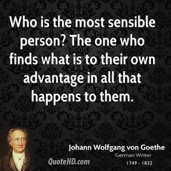 Who is the most sensible 