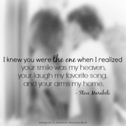 I knew you were the onøwhen I realized 