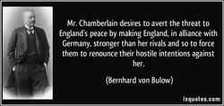 Mr. Chamberlain desires to avert the threat to 
