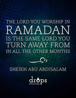 THE LORD YOU WORSHIP IN 
